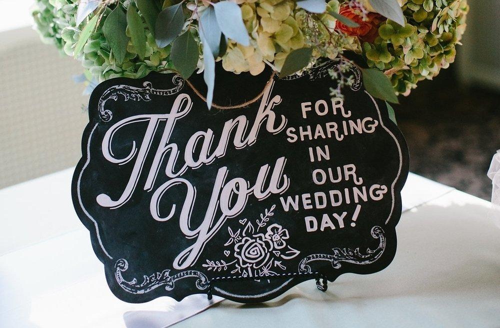 Amanda Paulson Art Wedding Chalkboard Guest Thank You