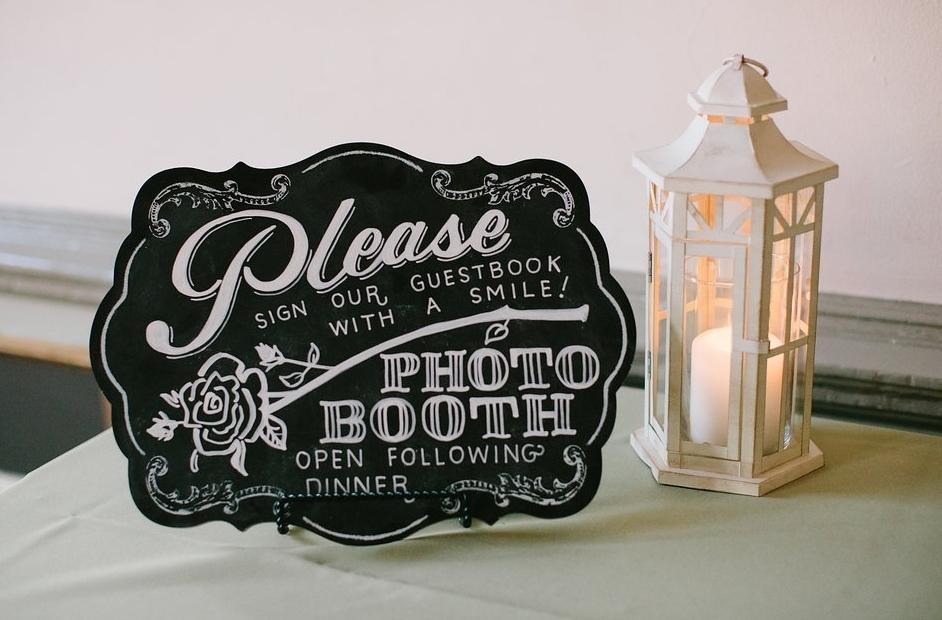 Amanda Paulson Art Wedding Chalkboard Photo Booth