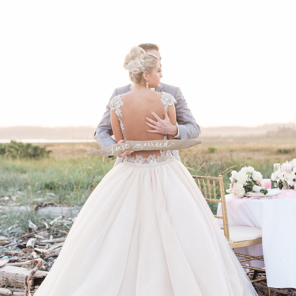 Sophisticated Bluff Wedding