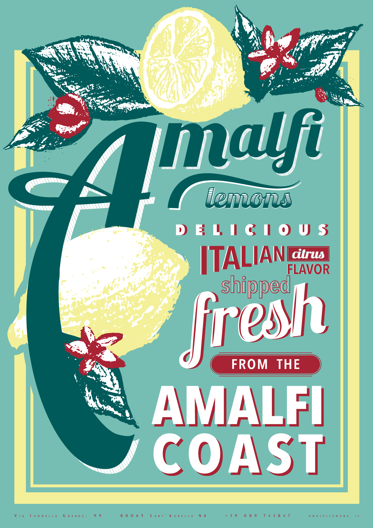 Amalfi Package Labeling and Promo Poster — Katelyn Oswald