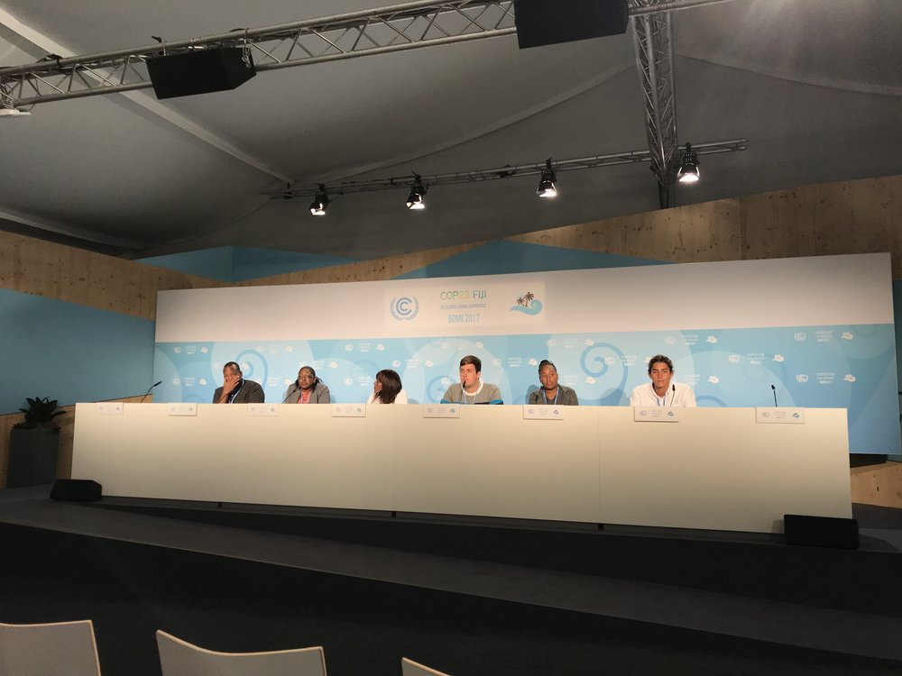 The CYEN-SHOS press conference at COP23.