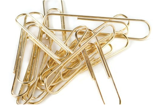 Gold Paper clips, because you can.