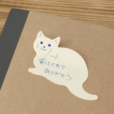 No need for square post it notes when there are cat Post-Its available.