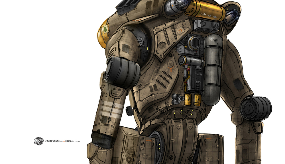 Detailed back design for the Jaeger. Design of Jaeger by the talented :  Francisco Ruiz Velasco.