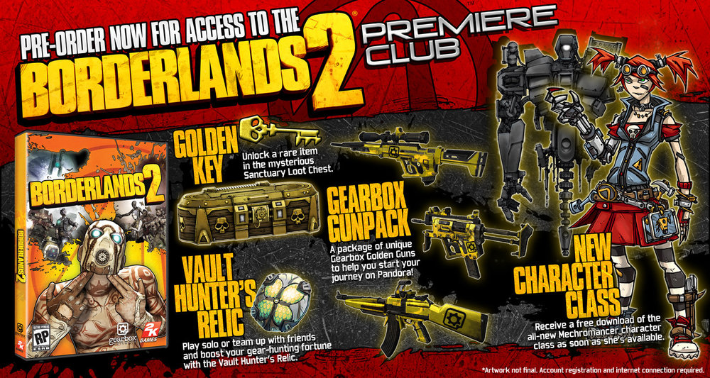 Our sniper rifle shown in Borderlands 2 pre-order access pack.