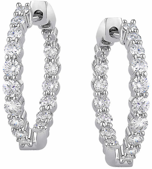 bb607b9b609b Round Brilliant 1.00 ctw VS2 Clarity, I Color Diamond 14kt White Gold  Inside Outside 3