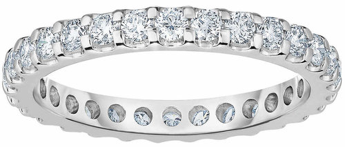 fde5cc320a25 Round Brilliant 1.00 ctw VS2 Clarity, I Color Diamond Platinum Eternity  Band 1.jpg