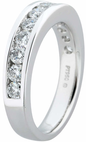 5578fa85c69c Round Brilliant 1.00 ctw VS2 Clarity, I Color Diamond Platinum Channel Set  Band