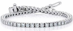 edeb75298 Round Brilliant 4.00 ctw VS2 Clarity, I Color Diamond 14kt White Gold  Bracelet 1.
