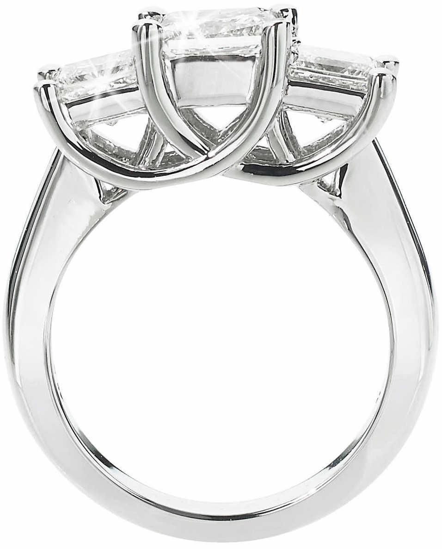 19fbc916f45 Princess Cut 3.00 ctw VS2 Clarity, I Color Diamond Platinum Three Stone Ring