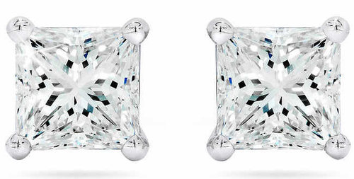 0ab3d4253c2 Princess Cut 3.00 ctw VS2 Clarity, I Color Diamond Platinum Screwback Stud  Earrings