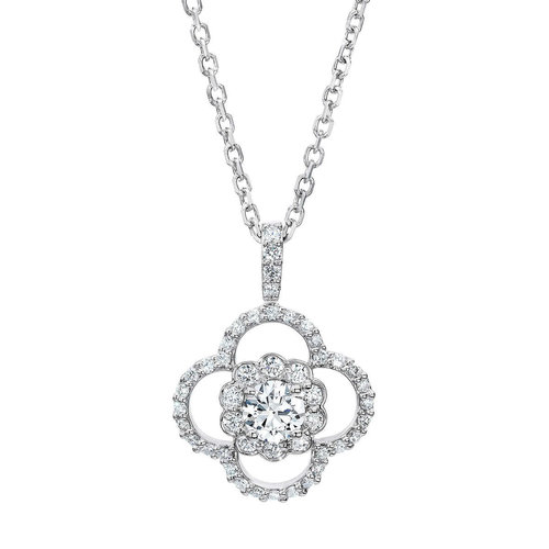 af01dc4feee0 Round Brilliant 1.00 ctw VS2 Clarity, I Color Diamond 14kt White Gold  Necklace .jpg