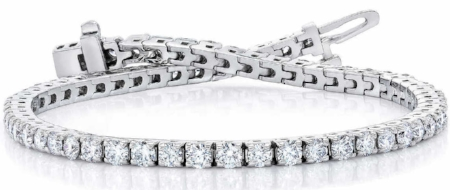Round Brilliant 4.00 ctw VS2 Clarity, I Color Diamond 14kt White Gold Bracelet