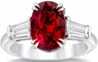 This exotic and vibrant jewel is the perfect expression of July, unabashedly proud of its beauty. Though many  ruby  engagement rings are large and over the top.