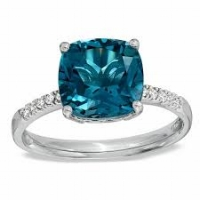 Though turquoise is an earthy stone, take advantage of its unique color and texture, and pair it with something a bit more polished, like a diamond. The result is nothing short of incredible.