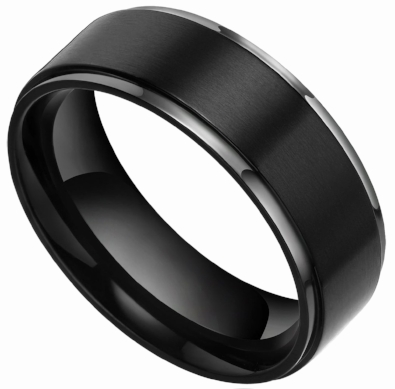 ss  Black is classic, neutral, and one of the easiest to wear day after day. Casual, yet still elegant, black is the 'it' color for men's wedding bands!