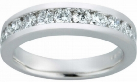 Round+Brilliant+1.00+ctw+VS2+Clarity,+I+Color+Diamond+Platinum+Channel+Set+Band+1.jpg