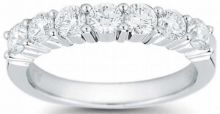 Round+Brilliant+1.00+ctw+VS2+Clarity,+I+Color+Diamond+Platinum+Seven-Stone+Band+1.jpg