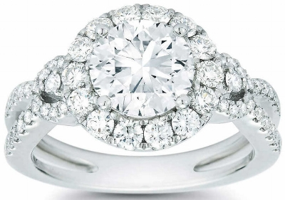 Round+Brilliant+2.90+ctw+VS2+Clarity+I+Color+Diamond+Platinum+Halo+Wedding+Ring+1.jpg