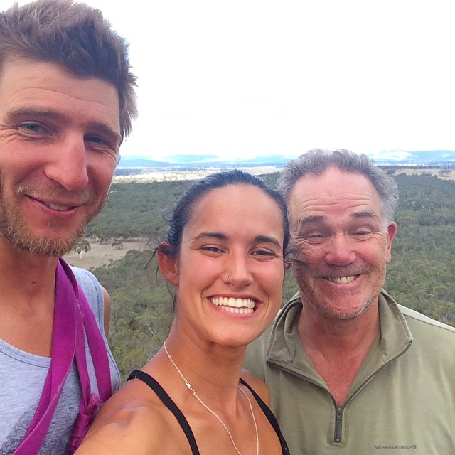 Right here • right now 😝 at the top of the world with the two of the most important men in my life 💙 #dad #boyfriend #family #rockclimbing