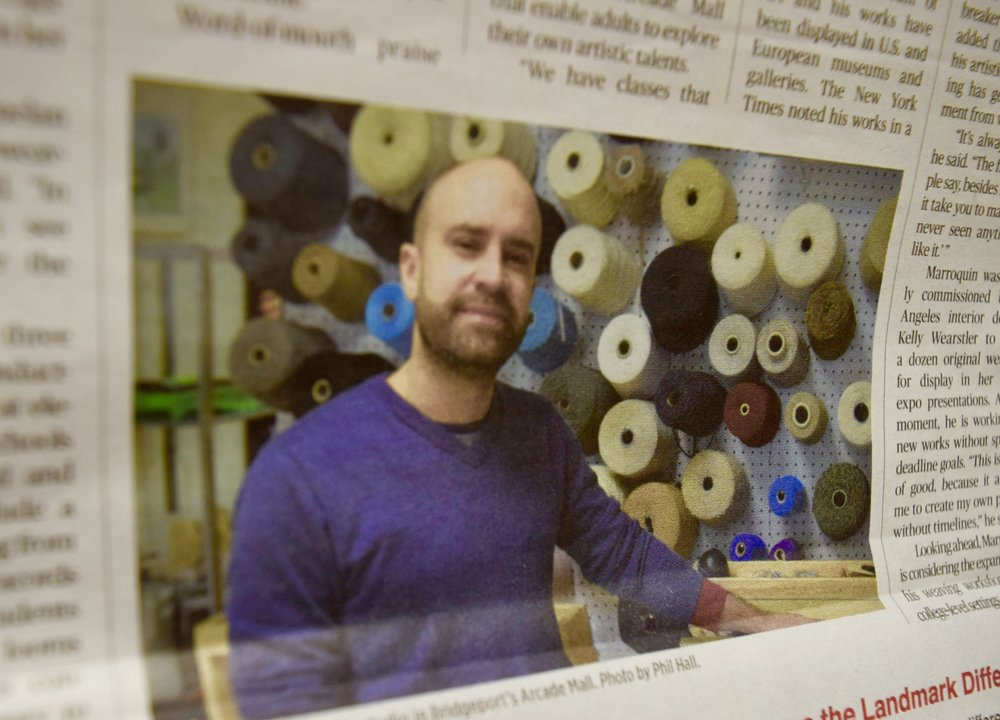 Bridgeport artist Ruben Marroquin brings weaving into the digital age. - Fairfield County Business Journal By Phil Hall - November 18, 2018