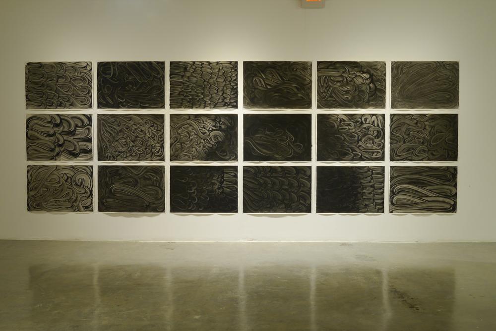 """José Luis Landet  """"principio de polaridad"""" - 2013 serie 18 dibujos - black ink on paper-"""