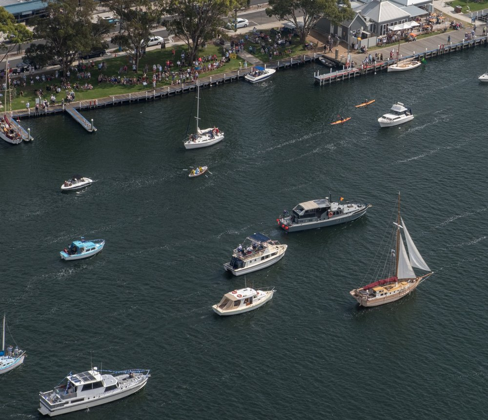 """Enter the """"Sail Past"""" on Saturday - includes all watercraft"""