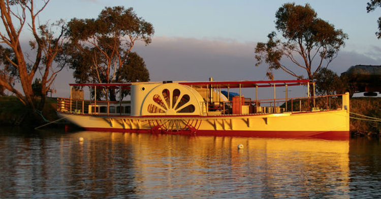 Today's Paddle Steamer Curlip was conceived in 2002 and completed as a community build project in 2008 and operated as a tourism venture until 2015. She has been a focal point and engendered great spirit for the communities of Orbost and Marlo and is much loved by the people of East Gippsland.