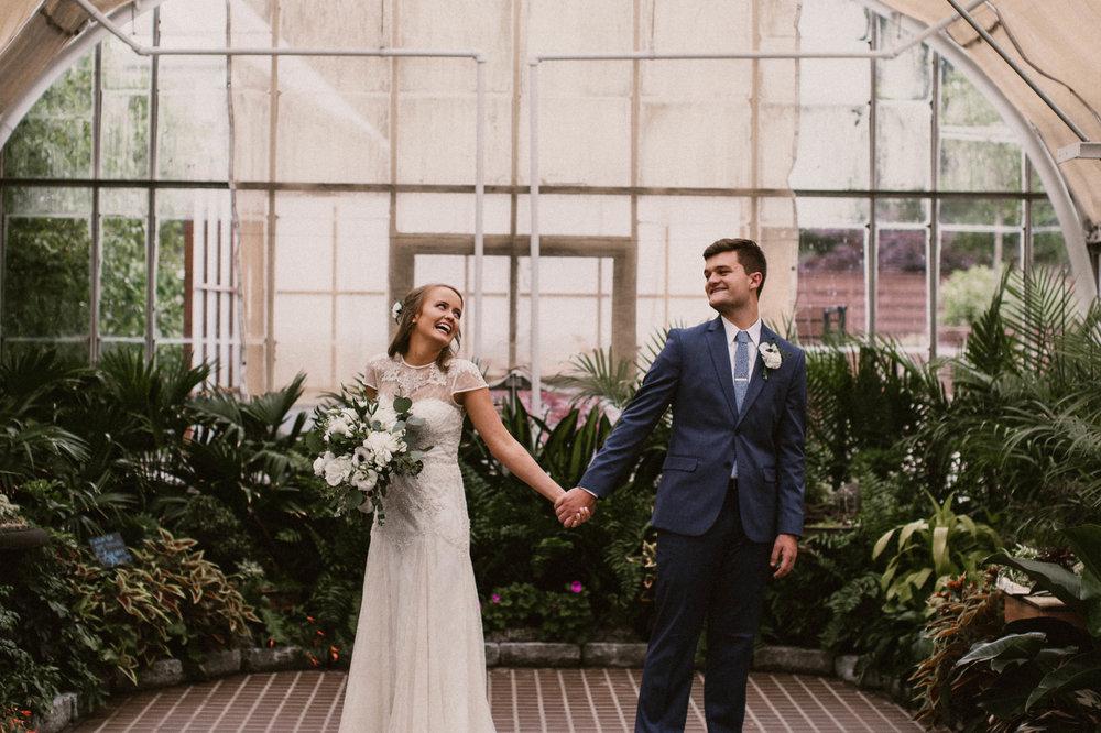 LINDSAY & CHRISTIAN - STYLED FRANKLIN PARK CONSERVATORY WEDDING