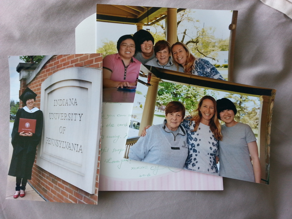 Day 1. Receiving card and photos from friends half way around the world