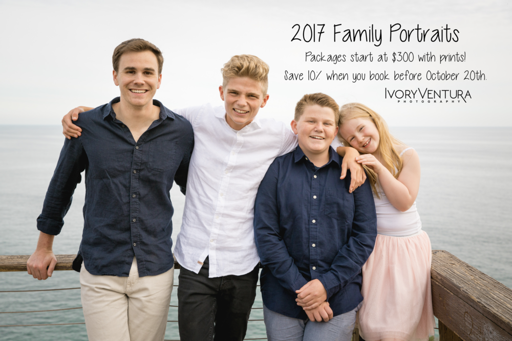 2017 family portrait promotions