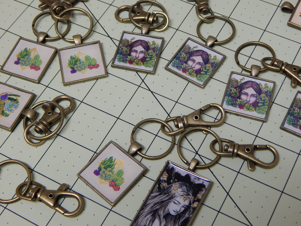 Finished key chains!