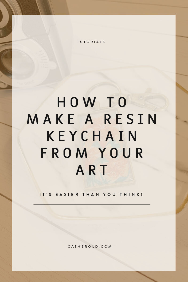 How To Tuesday : How To Make A Resin Keychain — catherold
