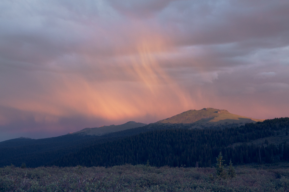 Rain at Sunset Lost Creek Wilderness, CO
