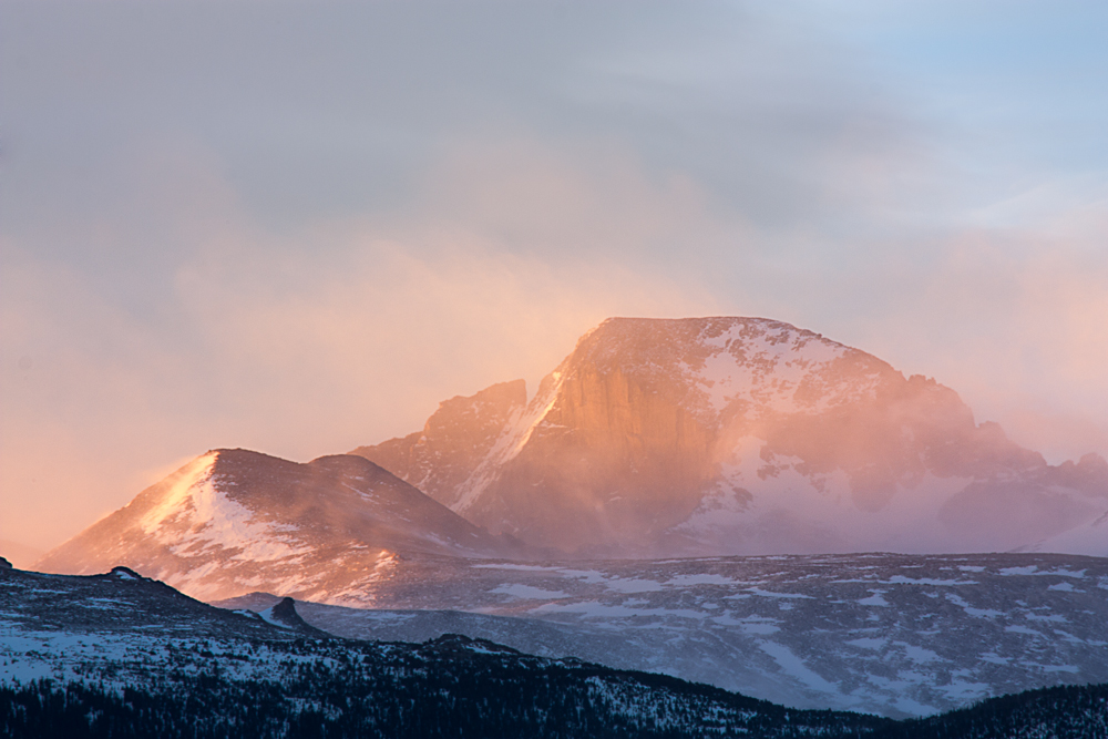 Windy Sunrise Rocky Mountain National Park, CO