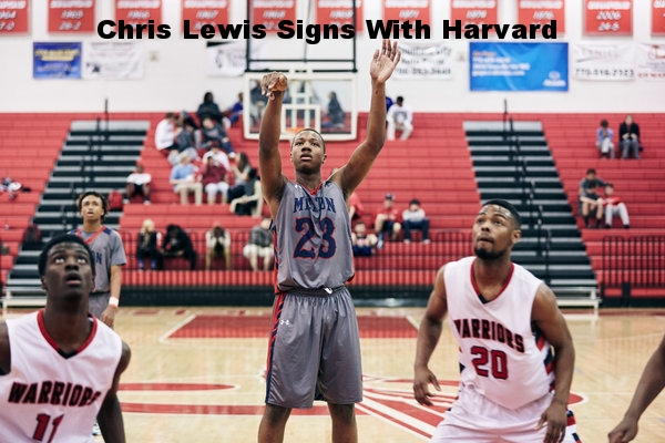 Chris Lewis Signs With Harvard