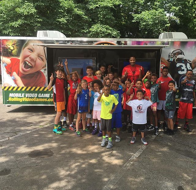 Six weeks down one week to go of camp.The kids always enjoy Friday treat pizza and video game truck!!