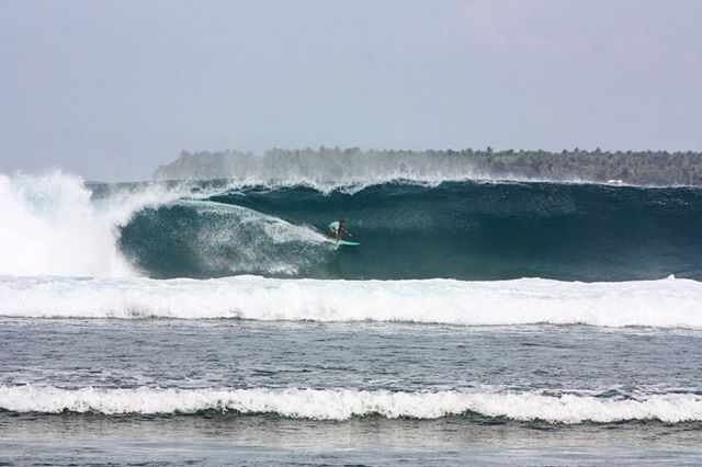 Da Boom at Way Jambu. Sumatran Pipeline is on fire 🔥 🔥 🔥. Thanks to @our_surf_farm for catching the moment 🤙🏾🤙🏾
