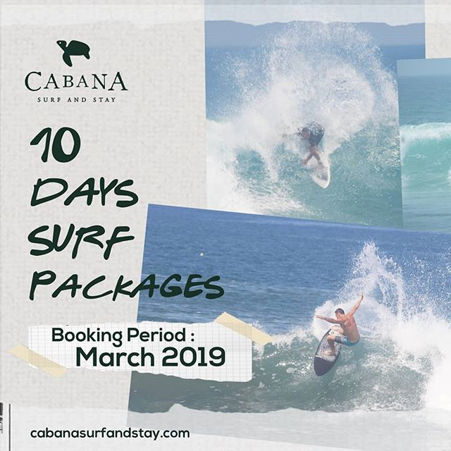 March special offer! Book your #surftrip until end of March 2019. Get 1 night free for 10 days booking. Play on.. 📧info@cabanasurfandstay.com WWW.CABANASURFANDSTAY.COM . . . #cabanasurfandstay #krui #surf #mandiribeach #surfaccommodation #surfandstay #surftheearth #surfholiday #surfhouse #beachhouse #surfcamp #surfingusa #indosurf #surftravel