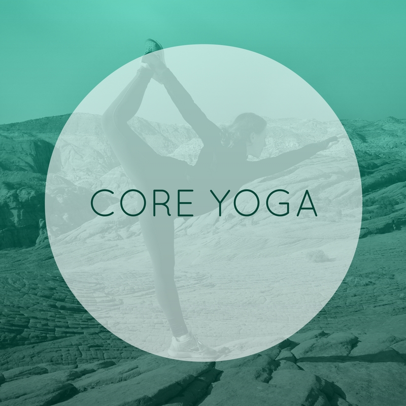 "An excellent way to build core strength. Explore postures that focus on the primary muscles that strengthen and stretch the abdomen, back, buttocks, hamstrings, hip flexors as well as  stabilize the ""core"" of your body.   CORE YOGA: B/I/A"