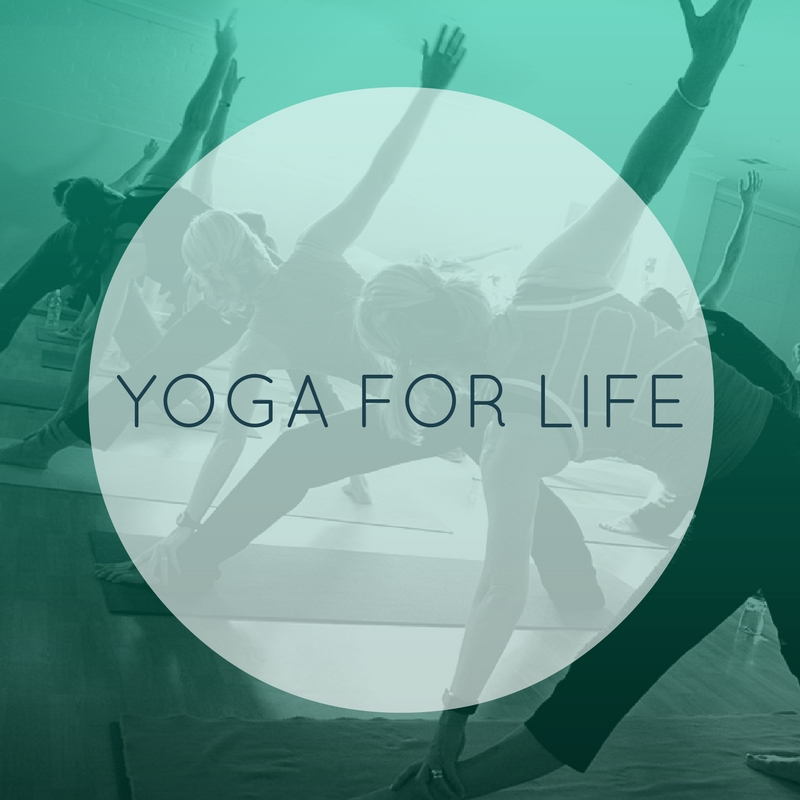 Our Yoga for Life class focuses on yoga as a form of therapy. Relaxation, thoughtful breathing, and good old introspective quiet time. Take a minute for yourself and learn to be still. All ages & levels are welcome.  YOGA FOR LIFE: B/I/A