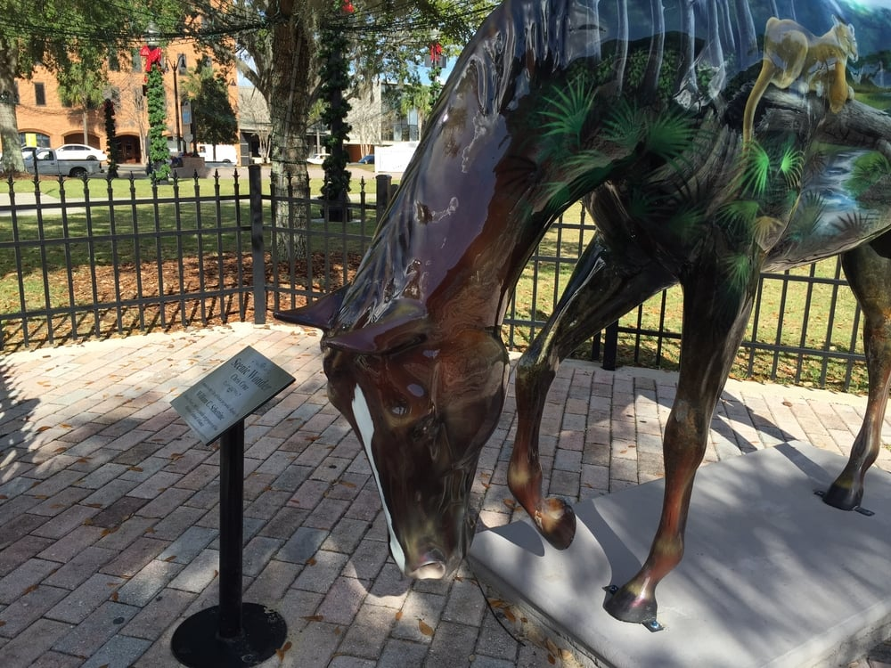 Speaking of horses, we came across several of these in the town square of Ocala, FL. This was definitely horse country. The variety of art used on this livestock reminded me of the Sturgeons on the Bay event produced annually in Sturgeon Bay. We all have significant symbols that speak to our part of the country!