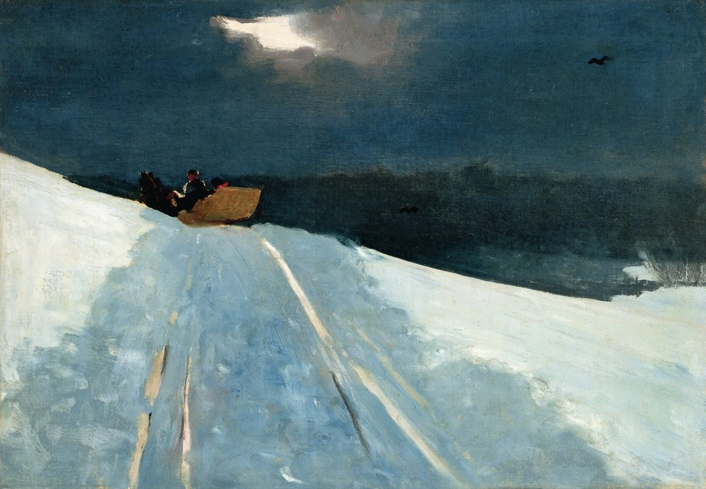 Winslow Homer (American, 1836-1910): Sleigh Ride, c. 1890–95. Sterling and Francine Clark Art Institute, Williamstown, Massachusetts, USA.