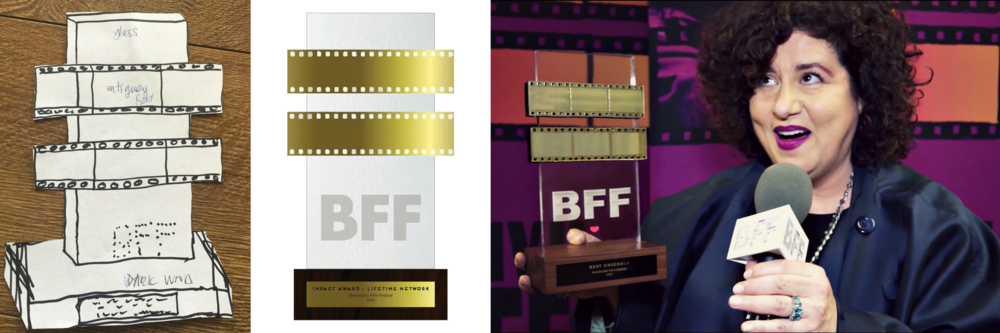 Under the direction of the creative director for the 2015 Bentonville Film Festival, I fabricated the BFF Award in partnership with Modus Studios in Fayetteville, AR and other local vendors. Acquiring all elements of the award, taking it from sketch to fruition.