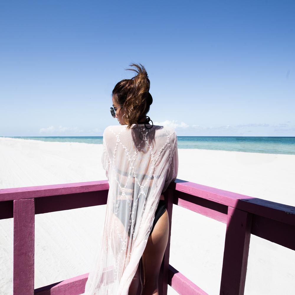 AdoreMe Velna Bikini Forever 21 Lace Robe