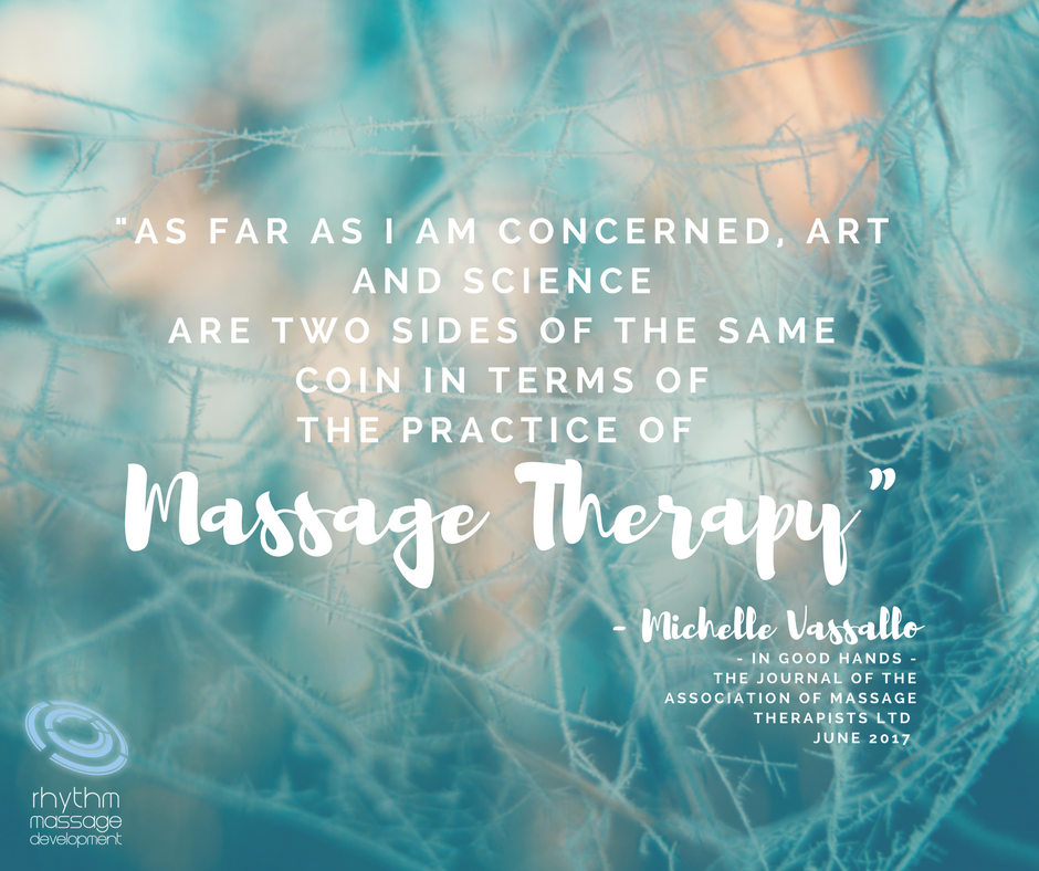 Massage therapy art and science