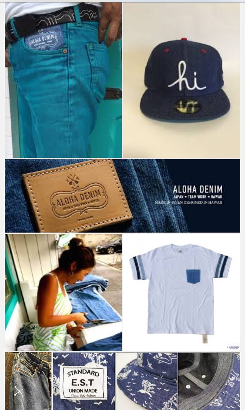 Aloha denim have a look at the products under new in the shop .