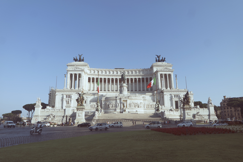 Altare della Patria.  Just a humble monument for Vittorio Emanuele II, the first king of unified Italy.