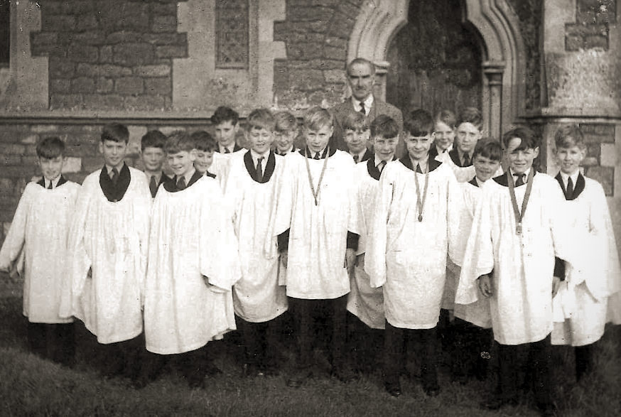 School Choir at Dry Sandford Church (1954)