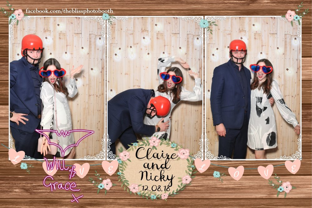 Claire and Nicky - Ringwood Hall Chesterfield - Magic Mirror Photo Booth